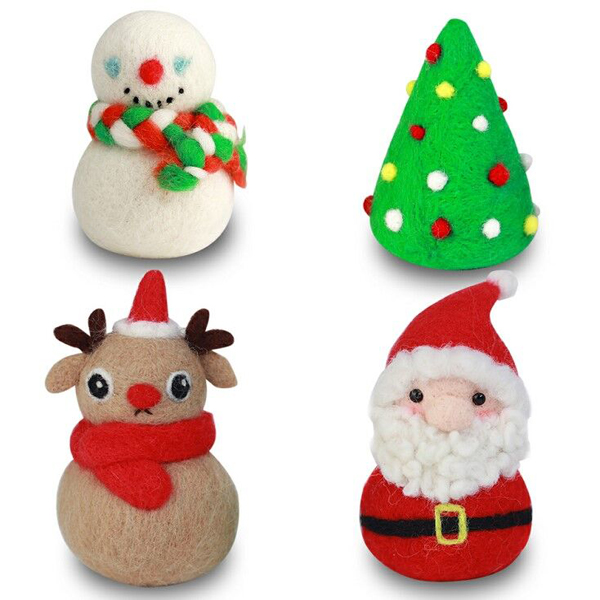 Wool Felt Kit Supplies DIY Craft Christmas Set