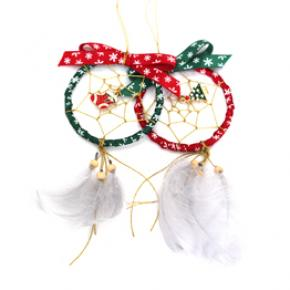 65mm Dia Mascot Natual Feather Dream Catcher